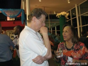 jeremy taylor & susan dore at caribbean beat relaunch