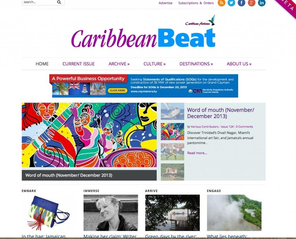 Caribbean Beat Magazine Website 2013