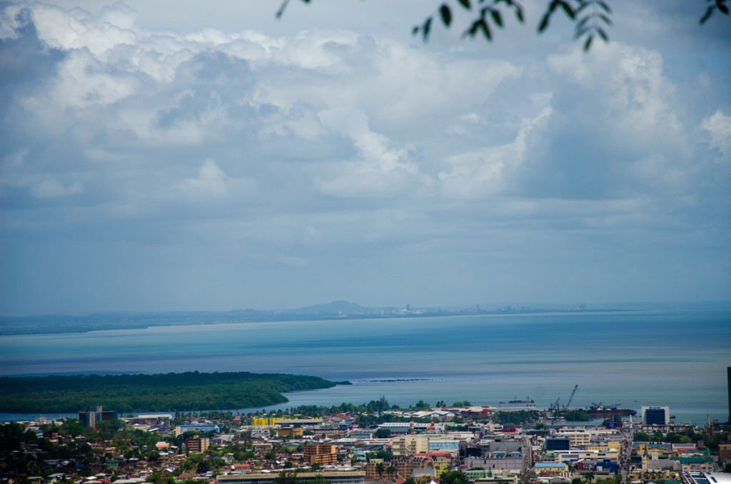 Views of Port of Spain and Central, Trinidad in the distance. Photograph by Warren Le Platte