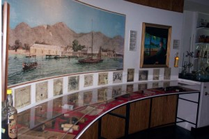 A display of unauthentic replicas of the bitters. Photograph courtesy Angostura Museum