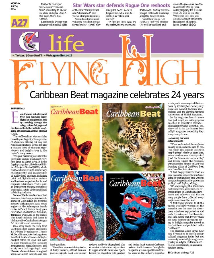Caribbean Beat turns 24 pg 1