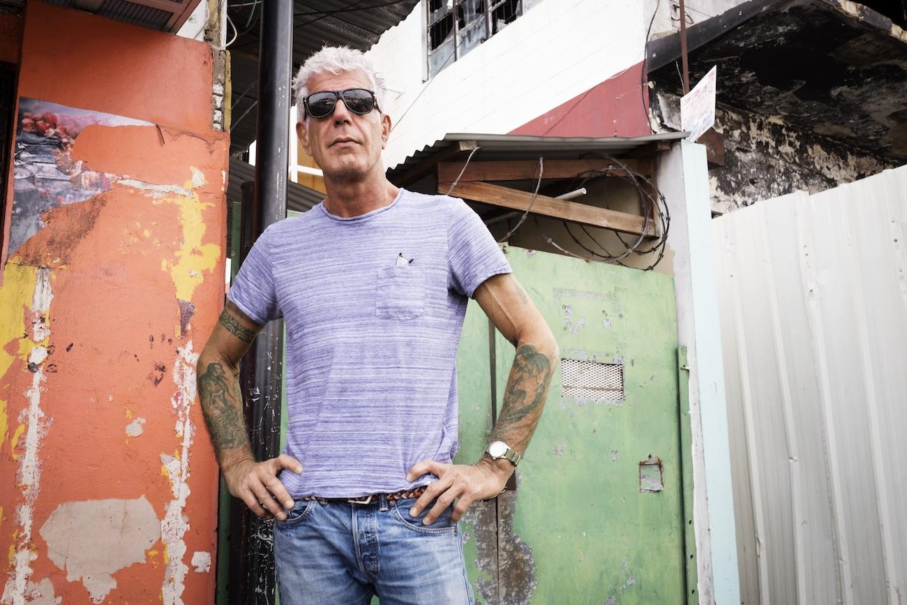 Anthony Bourdain explores in Port of Spain, Trinidad on 4 January 2017. Photo by David Scott Holloway, courtesy CNN