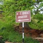 Mount St Benedict signpost