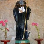 Statue of Saint Benedict inside the church