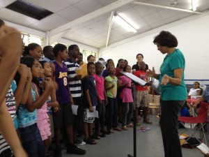 Marionettes Children's Choir with conductor Gretta Taylor
