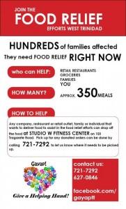 Gayap flood relief efforts Trinidad