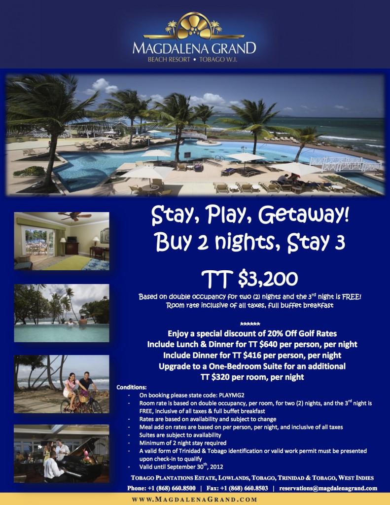Stay, Play, Getaway at Magdalena Grand Tobago (September 2012)