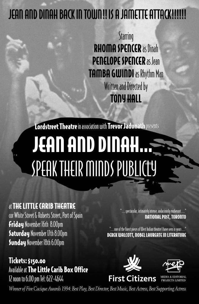 Tony Hall Jean and Dinah 2012 poster