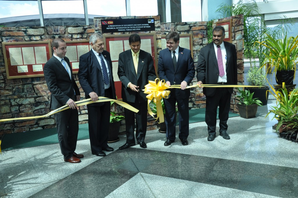 The inauguration of the exhibition at Piarco International