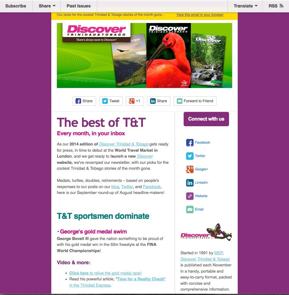 Discover Trinidad & Tobago Travel Guide Newsletter