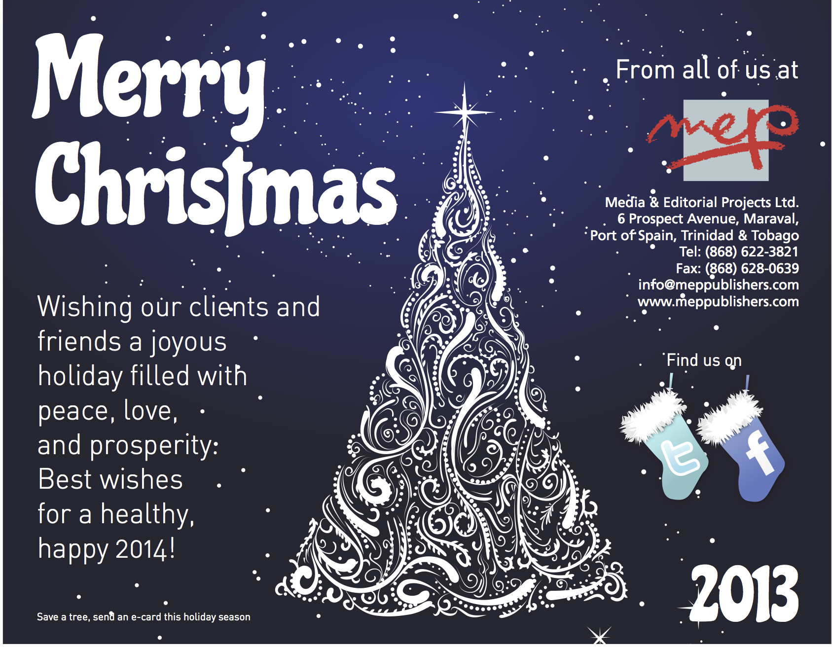 Seasons Greetings Happy 2014 From All Of Us Mep Publishers