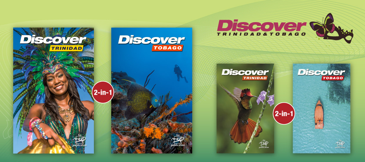 The dual covers of the 2019 and 2018 editions of Discover Trinidad & Tobago